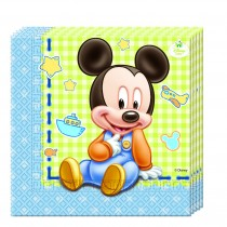 Servilletas 33X33 Baby Mickey