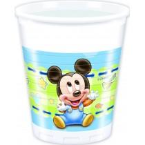 Vasos Plastico 200Ml Baby Mickey