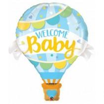 Globo foil gigante 42 pulg. (106,6cm) bienvenido bebe