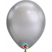 "Globo de latex 7"" mediano. (17,7cm) Rnd Chrome plata 10 ud"