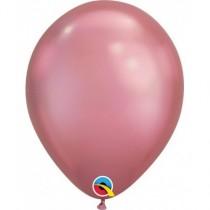 """Globo de latex 7"""" mediano. (17,7cm) Rnd Chrome Malva 10 ud"""
