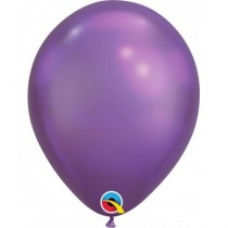 "Globo de latex 7"" mediano. (17,7cm) Rnd Chrome Purpura 10 ud"