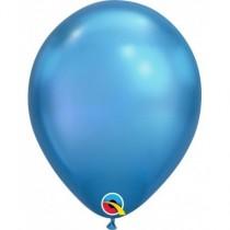 "Globo de latex 7"" mediano. (17,7cm) Rnd Chrome azul 10 ud"