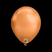 """Globo de latex 7"""" mediano 7"""" (17,7cm) Rnd Chrome Cobre 10 ud"""