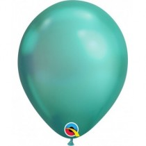 Globo de latex 11 pulg. (27,9cm)  Rnd Chrome Verde 10 ud