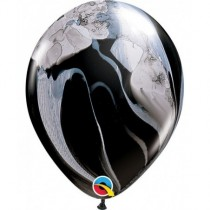 Globo de latex 11 pulg. (27,9cm) blanco y negro Agate 10 ud