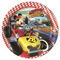 Platos Papel 23cm Mickey Coches