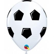 Globo de latex 11 pulg. (27,9cm) balón de football blanco