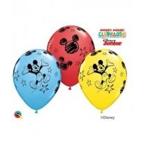 Globo de latex 11 pulg. (27,9cm) Redondo Especial Surtido Mickey Mouse