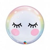Globo burbuja 22 pulg. (55,8cm) ojos y pestañas