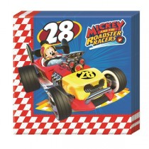 Servilletas 2-ply 33x33cm Mickey Coches