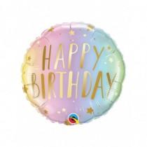 Globo foil redondo 18 pulg. (45,7cm) Feliz Cumpleaños Pastel