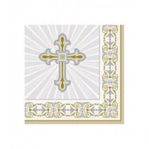 Servilletas cruz comunión 16 ud
