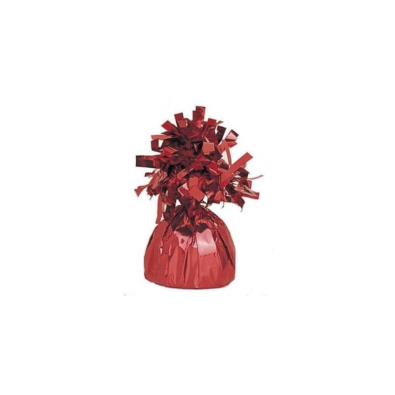 Peso metalizado color rojo