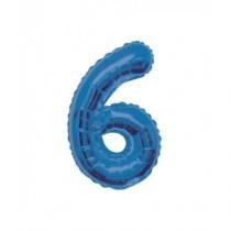 Globo de foil 34 pulg (86,36 cm) Azul Glitz numero - 6