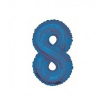 Globo de foil 34 pulg (86,36 cm) Azul Glitz numero - 8