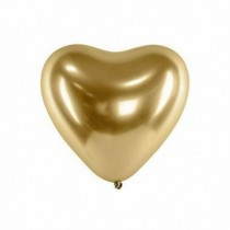 Globo latex forma corazon 30cm color oro