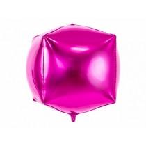 Globo de foil cubico, 35x35x35cm, rosa oscuro