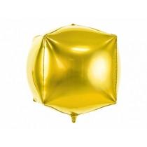Globo de foil cubico, 35x35x35cm, oro