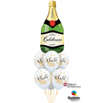 Ramo de globos botella de champám