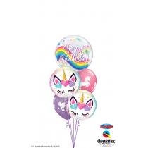 Ramo de globo burbuja unicornio