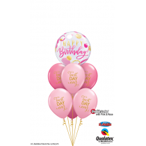 Ramo Happy birthday rosa - fucsia