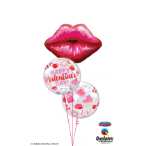 Ramo de globos beso San valentin
