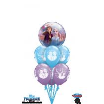 Ramo de globos burbuja frozen