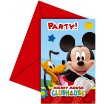 Invitaciones y sobres Playful Mickey