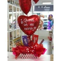Caja dulce corazón quieres ser mi novia?