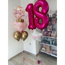 Ramo de globos 18 años