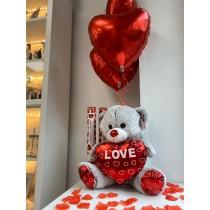 Oso Amor corazón
