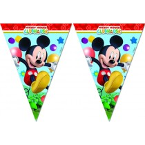 Banderin triangulos ( 9 flags ) Playful Mickey
