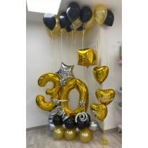 Ramo de globos Oro