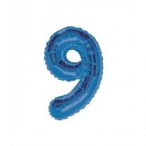Globo de foil 34 pulg (86,36 cm) Azul Glitz numero - 9