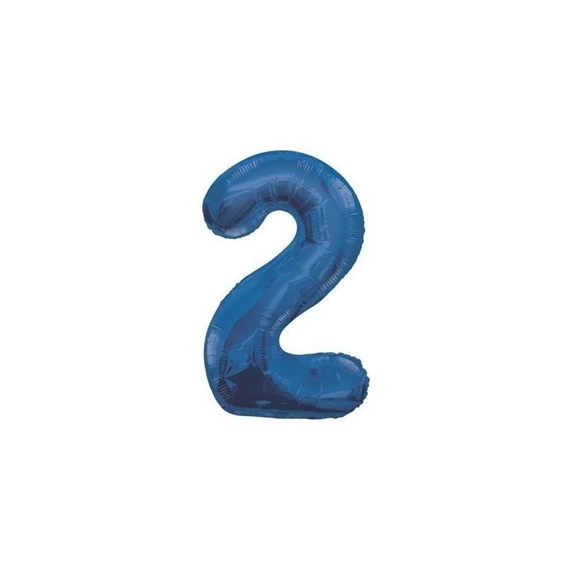 Globo de foil 34 pulg (86,36 cm) Azul Glitz numero - 2