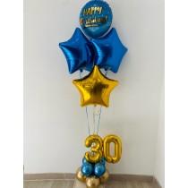 Ramo De Globos Happy Birthday AZUL