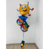 Ramo De Globos Emoticon Feliz Cumpleaños