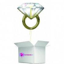 Globo en caja sorpresa anillo diamante