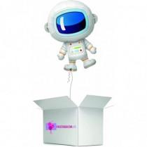 Globo en caja sorpresa astronauta