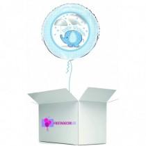 Globo en caja sorpresa baby shower azul