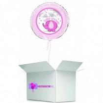 Globo en caja sorpresa baby shower rosa