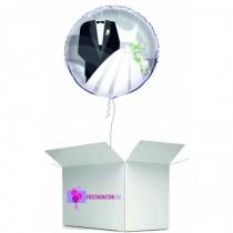 Globo en caja sorpresa boda novios