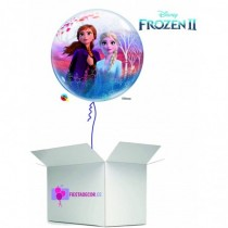 Globo en caja sorpresa burbuja Frozen II