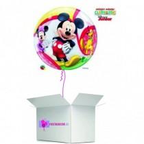 Globo en caja sorpresa burbuja mickey mouse