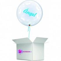 Globo en caja sorpresa burbuja pies personalizado
