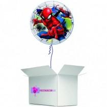 Globo en caja sorpresa burbuja Spideman