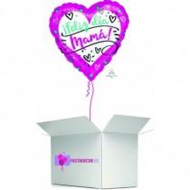 Globo en caja sorpresa corazon dia de la madre