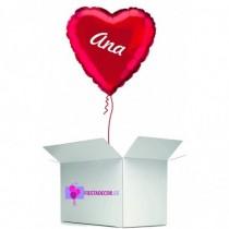 Globo en caja sorpresa corazon rojo