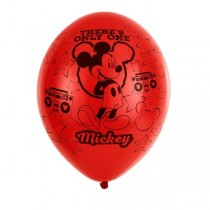 Globos Mickey Mouse 4 Sided Latex Balloons 11''/27.5cm 6 ud